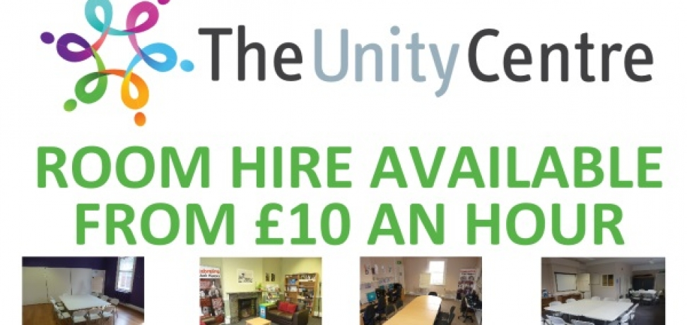Room Hire available at The Unity Centre
